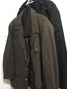 3 dress jackets large/xl brand new condition non-smoker