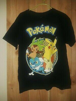 Pokemon Boys Black Shirt w Characters Size S - Pokemon Boy Characters