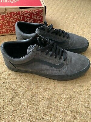 Mens Dark Grey/black vans old skool size 11 immaculate with box