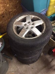 4 205/55 r16 tires/ pontiac rims