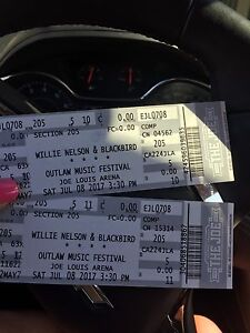 Two tickets to the outlaw music festival
