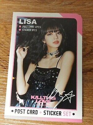 Lisa BlackPink Photo Post Card Set Sticker KPOP PostCard Black Pink Jennie Rose