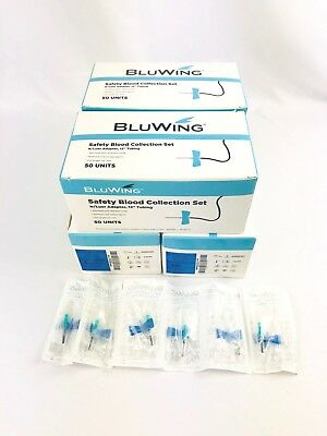 23g Bluwing Safety Blood Collection Set Butterfly W Adapter 12 Tube 200 Cs