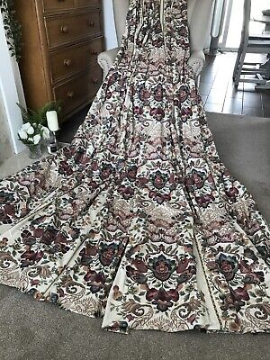 VCC 2951. EXTRA LONG COUNTRY HOUSE WILLIAM MORRIS LOOK CURTAINS. 135x275cm