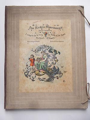Original Buch Das Reich der Blumenkönigin Sinnige Unterhaltung um 1860 selten