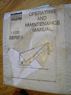 American 1100 Series Crane Operation Manual Crawler Maintenance 11310 11320 760