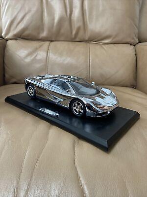 Gwilo Rare McLaren F1 1993 Special Edition  1:18 scale model Chrome Silver