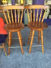 2x Wooden Barstools (Was $140.00) Brunswick Moreland Area Preview
