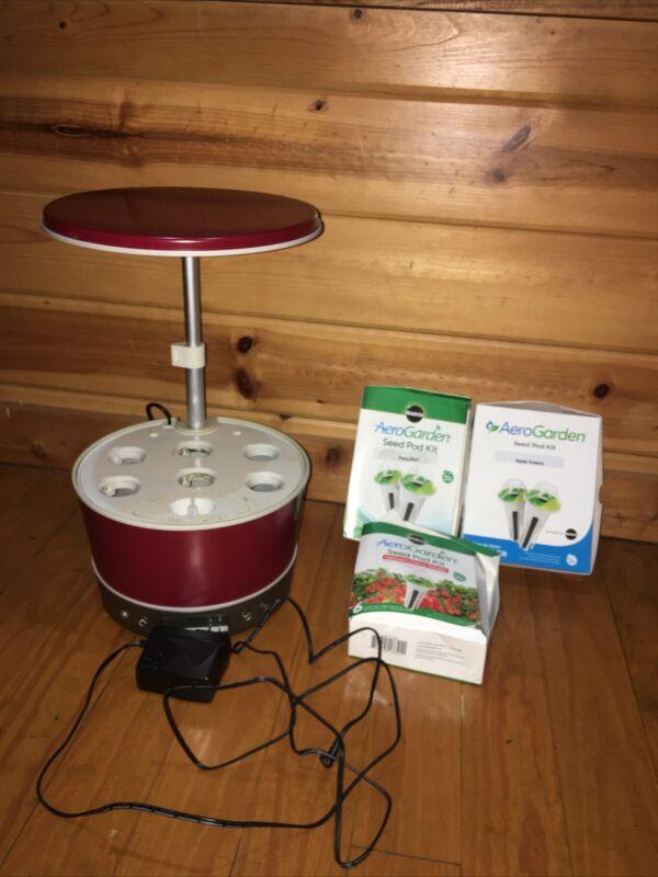 AeroGarden 100692-RED Harvest 360 Indoor Hydroponic Garden w 6 Grow Areas RED