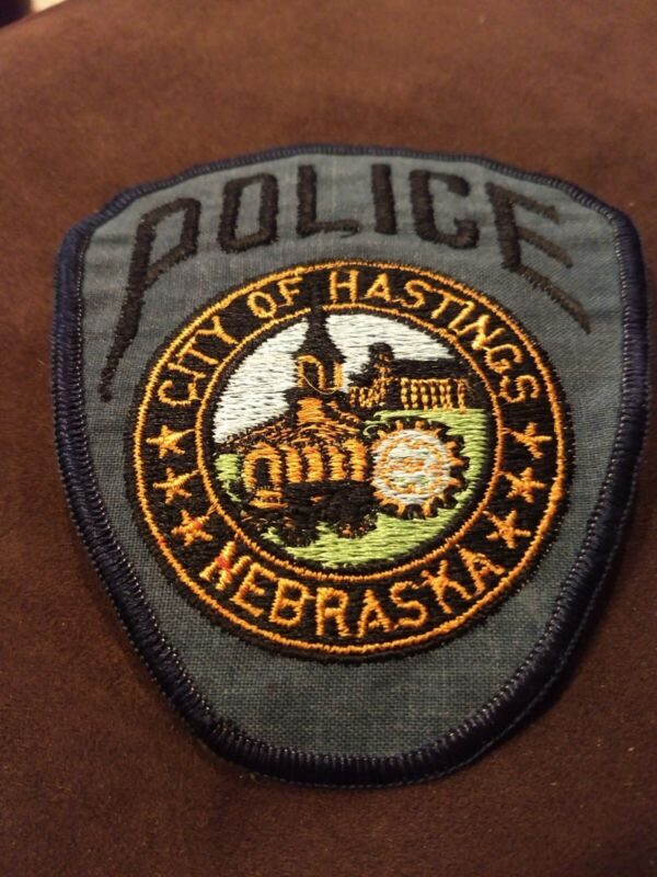 VINTAGE HASTINGS NEBRASKA POLICE (CHEESE CLOTH BACK) PATCH - NEW