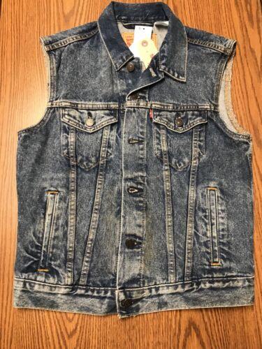 Levis 728860007 100% Cotton Men's Blue Denim Trucker Vest Je
