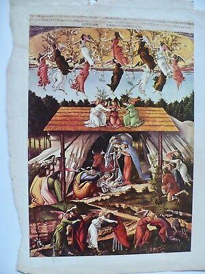 Sandro Botticelli Mystical Nativity Scene From Vintage McCall's Magazine 8 X 11