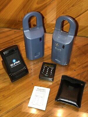 Lot Of 2 Ge Supra Ibox Real Estate Lockbox With Cradle Charger Read Inside