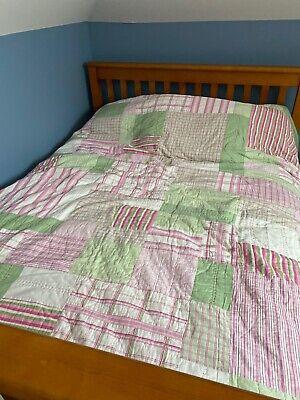 Nautica Queen Quilted Comforter Multi Color Quilt Plaid/Stripe Pattern