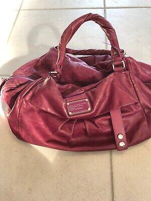 MARC BY MARC JACOBS Plum Purple Leather Convertible Satchel Bag