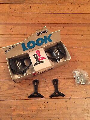 Look Mp90 Pedales MTB Clásicos Bicicleta de Montaña Clip-Less Negro