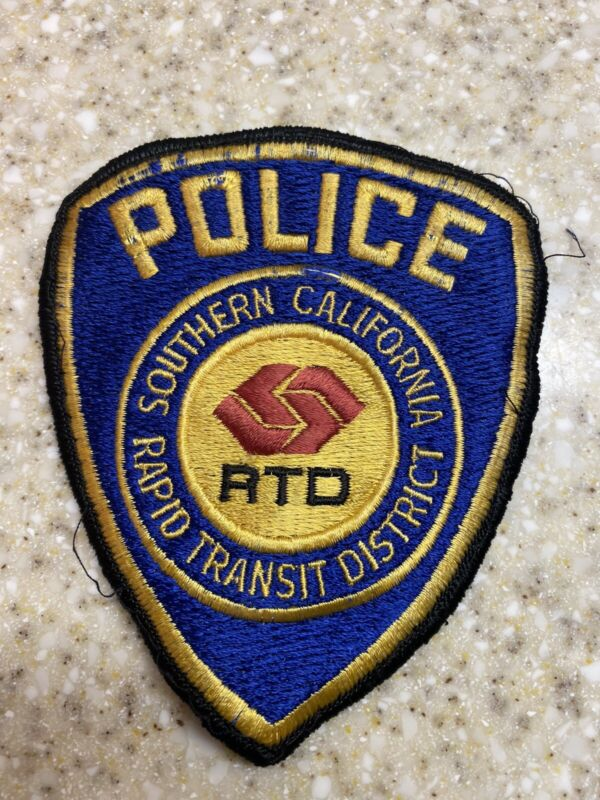 RTD Police Patch, Rapid Transit Police Los Angeles California