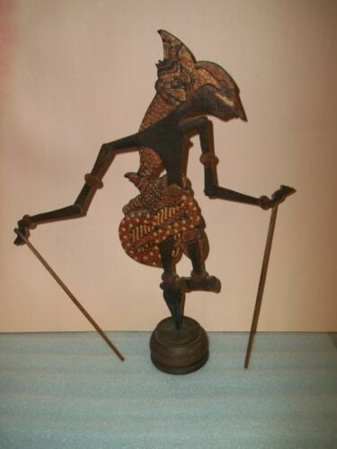 Indonesian Shaddow Puppet Wood Carved Home Decor Display - Works