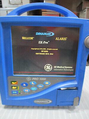 Dinamap Pro 1000 Dp1000f Patient Monitor Bp Nelcor Spo2 Ecg Temp
