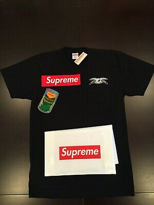 Supreme X Antihero SS16 Eagle Pocket Shirt M Nike Muakami KAWS North Face BOGO