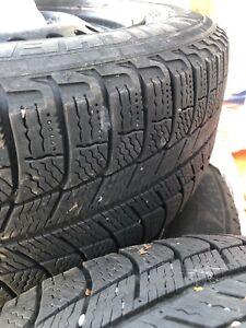 4 Michelin x-ice 250/60R16 winter tires on rims!