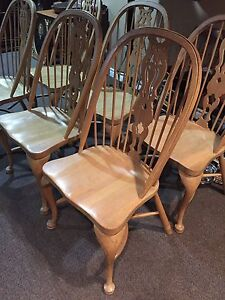Set of 6 solid oak oversized chairs