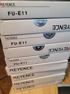 Keyence Fu-e11 Fiber Optic Array Thru Beam Sensor Heads W Hardware New Us