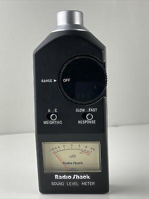 Nos Radio Shack Realistic 33-2050 Analog Sound Level Meter W Case Perfect