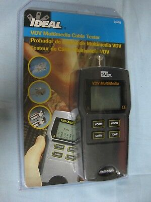 Brand New And Sealed Ideal 33-856 Vdv Multimedia Cable Tester