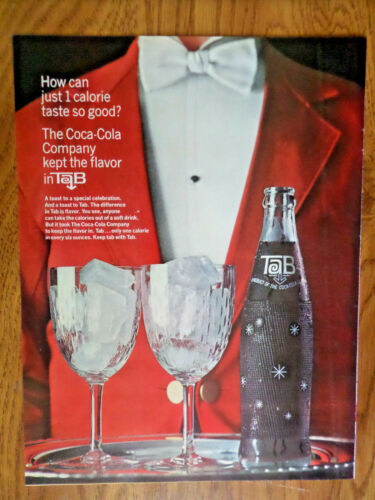 1964 Tab Coca-Cola Soda Ad How can Just 1 Calorie taste so Good
