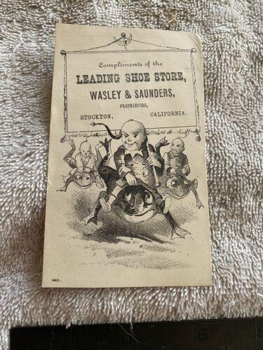 Wasley Saunders Stockton California Trade Card