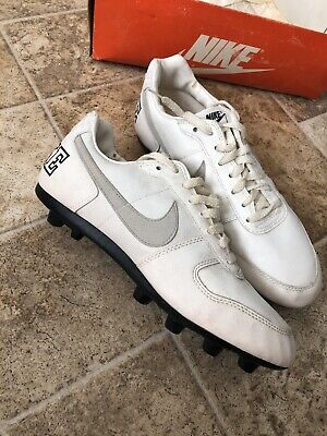 Vintage 90s Nike Soccer Cleats Size 8 White Nike Soccer Cleats
