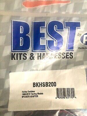 BEST / PAC BKHSB200 SPEAKER ADAPTERS RINGS For Harley Davidson