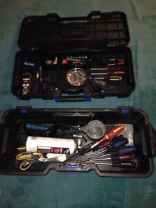 Master craft toolbox with tools