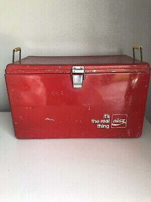 """Antique Coca Cola """"Its The Real Thing"""" Cooler"""