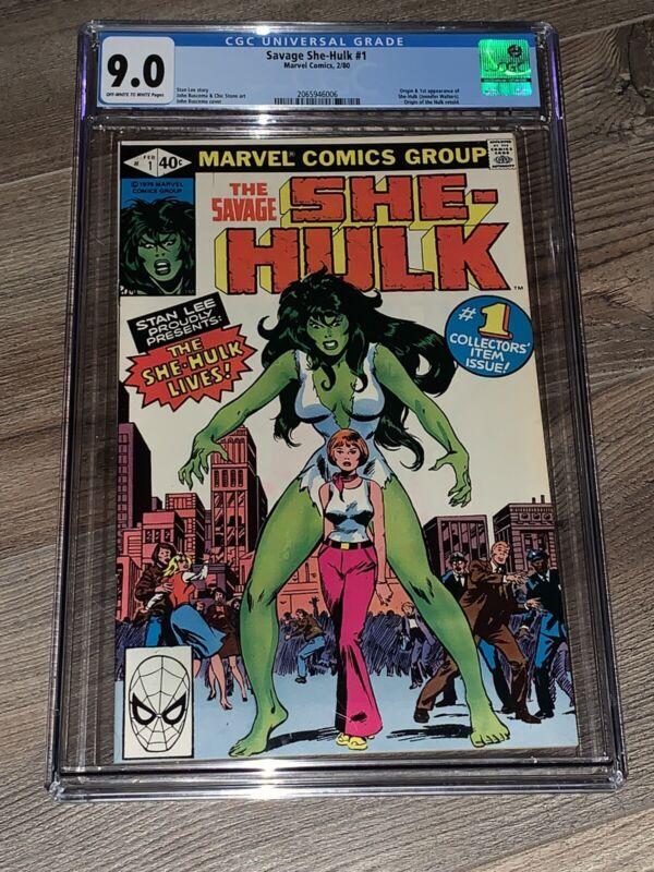 Savage She-Hulk #1 CGC 9.0 VF/NM First App Bronze Key Marvel 1980 High Grade