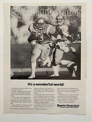 Sports Illustrated UCLA It's a wonderful world! Vintage 1982 Print Ad