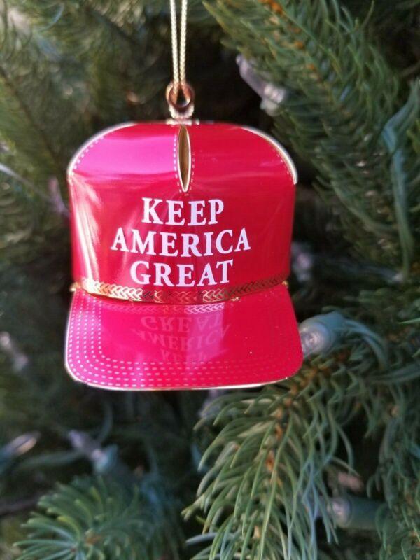 "Baldwin Brass 24k Gold ""Keep America Great"" Ornament Best Trump Ornament!"