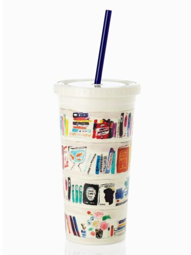 NEW Kate Spade Like A Book Insulated 20oz Tumbler Cup Librar