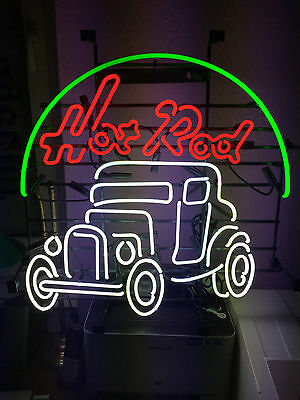 Car HOT ROD sign Neonreklame Neon signs Leuchtreklame Neonschild Neonbild news
