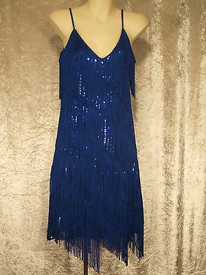 y Style Flapper Party Dress Fringe Over Sequins (1920s Great Gatsby Kleider)