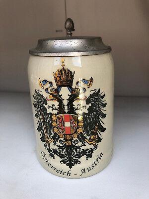 Beer Stein Osterreich Austria Double Eagle for sale  Huntington Beach