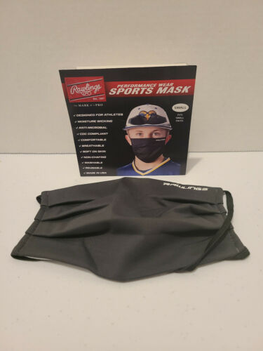 Rawlings Performance Wear Face Covering Sports Mask RMSK - Grey-Small