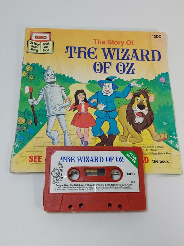 Vintage The Story of The Wizard of OZ - 24 Page Read Along - BOOK & Tape w Songs