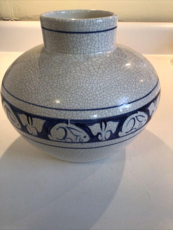 Dedham Pottery Vase/ Pottng Shed