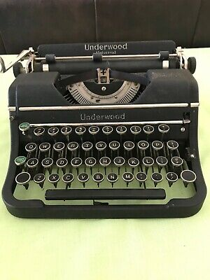 SERVICED WORKING Underwood Universal Manual Portable Typewriter Made in USA 1937