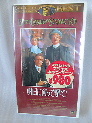 Butch Cassidy and the Sundance Kid / Paul Newman  Japanese original VHS NEW