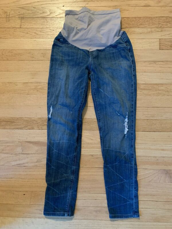 SOLD DESIGN LAB A Pea in the Pod Skinny Distressed Jeans Full Panel Size 28 EUC!