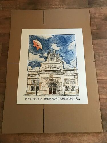 PINK FLOYD THEIR MORTAL REMAINS V&A London 2017 Official Print FLYING PIG New