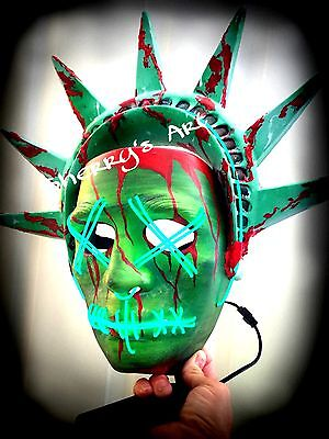 PURGE.. LADY LIBERTY LRG HARD MASK 💥💥 Thicker Crown! Ships Worldwide!
